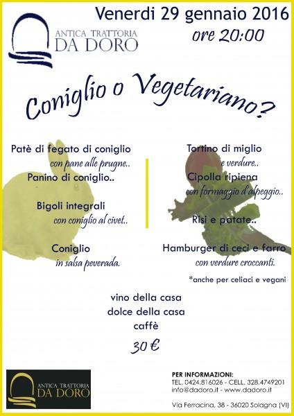 Coniglio o Vegetariano?